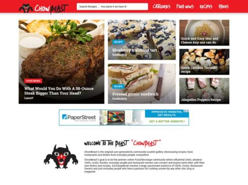 ChowBeast Website Project